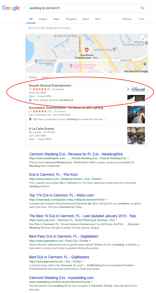 Local SEO Example