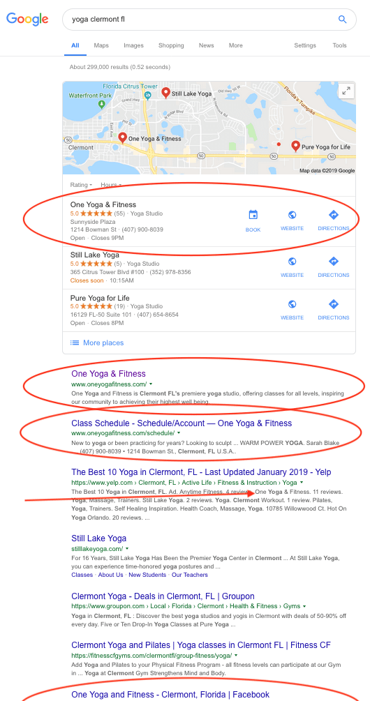 Multiple Local SEO Results